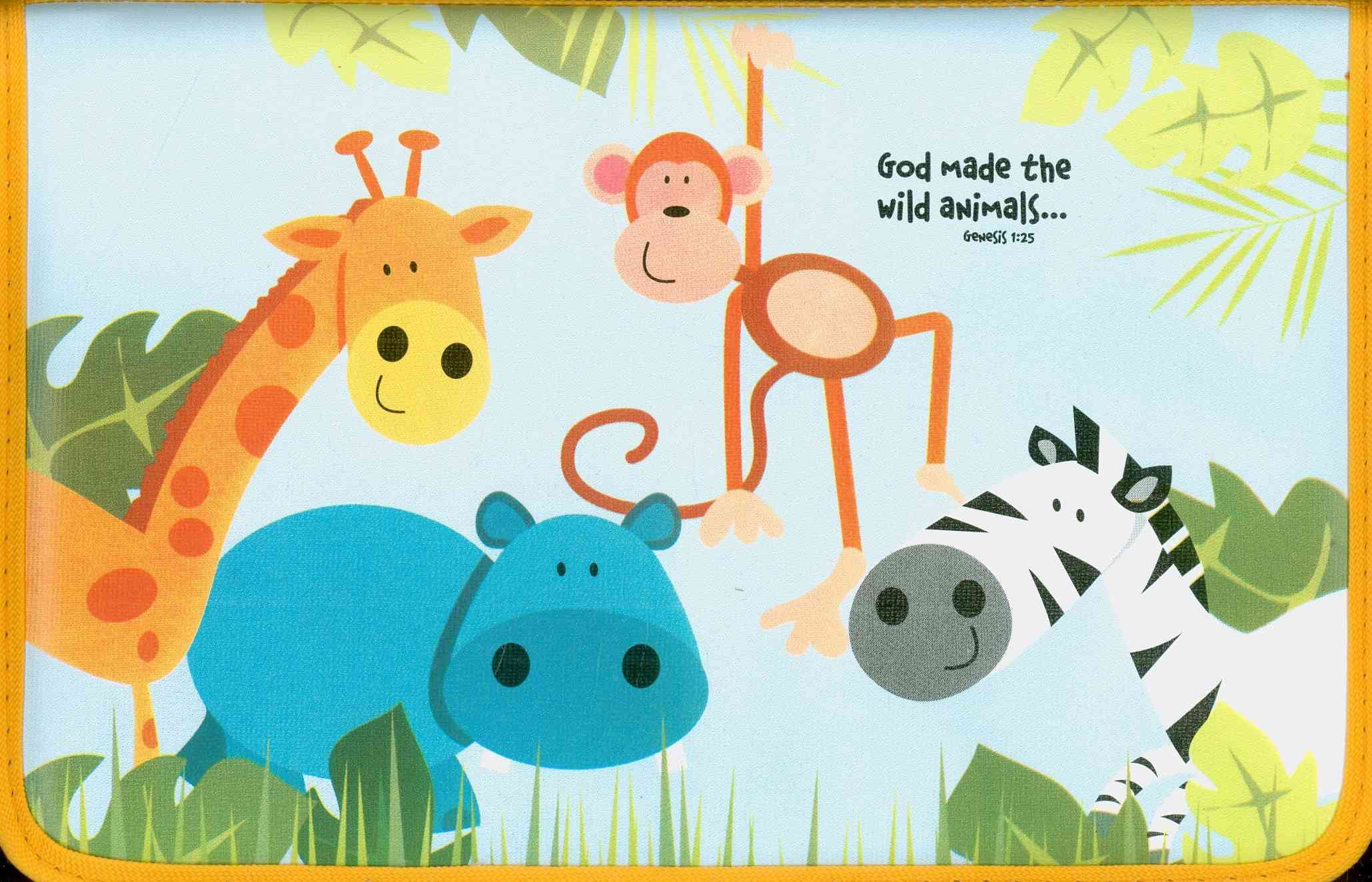 God's Animal Friends Medium Book and Bible Cover By Zondervan Publishing House